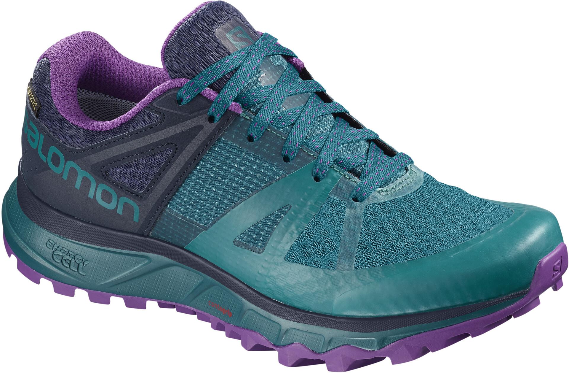 Salomon Trailster GTX Shoes Damen deep lagoonnavy blazerpurple magic